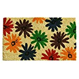 "Home & More 121371729 Colorful Daisies Doormat, 17"" x 29"" x 0.60"", Multicolor"