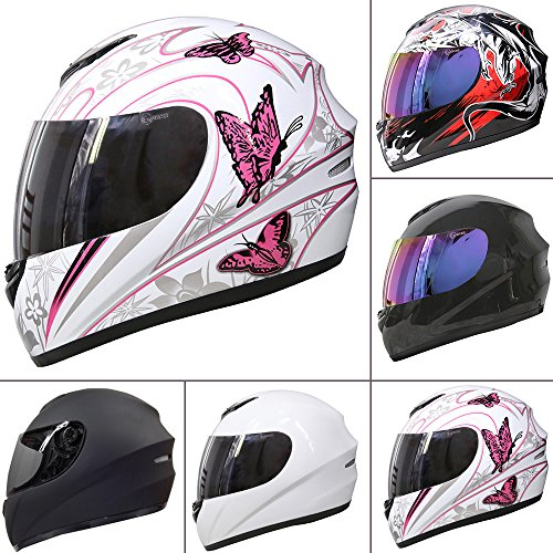 Free Mirrored Visor Leopard LEO-819 Full Face Motorbike Motorcycle Helmet 57-58cm Dragon M