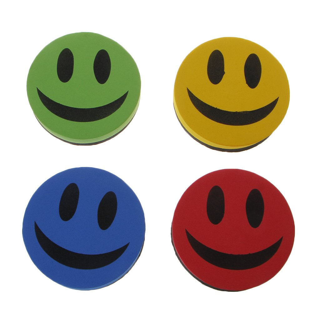 Qupida Smiley Magnetic Whiteboard Dry Wipe Drawing Board Cleaner Eraser School Office