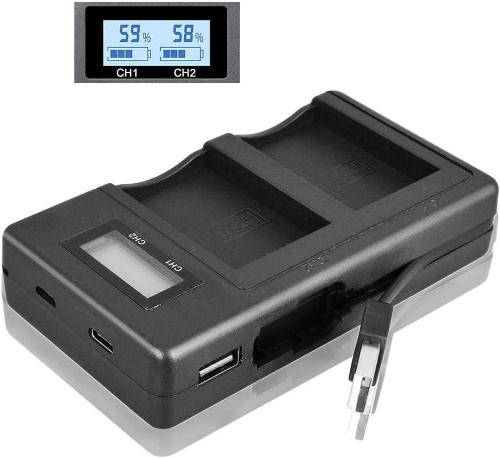 LJG8 EN-EL14 Upgraded Dual Charger Compatible with Nikon EN-EL14 Battery EN-EL14a Coolpix P7000 P7100 P7700 P7800 D3100 D3200 D3300 D5100 D5200 D5300
