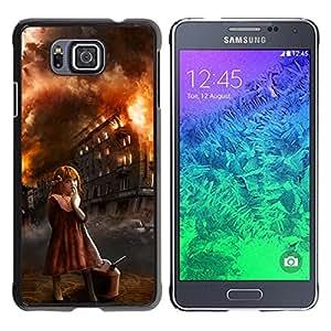 For Samsung GALAXY ALPHA G850 Case , Girl Arson Evil Halloween Monster - Diseño Patrón Teléfono Caso Cubierta Case Bumper Duro Protección Case Cover Funda