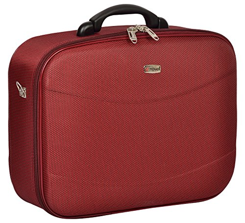 TREKKER Polyester 32.5 cms Red Softsided Cabin Luggage (ICON-o-N18RED)