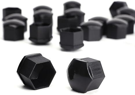 Set 20 17mm Chrome Voiture caps couvre boulons écrous de roue pour Fiat Panda Multipla