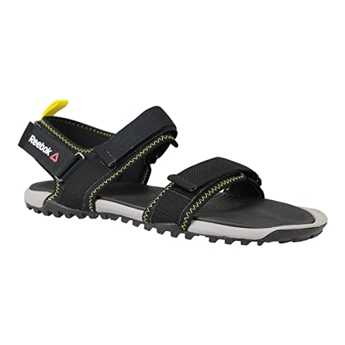 Reebok Trail Serpent Iv, Tongs Homme, Noir (Nero Black/Tin Grey/Bright Yellow), 42 EU