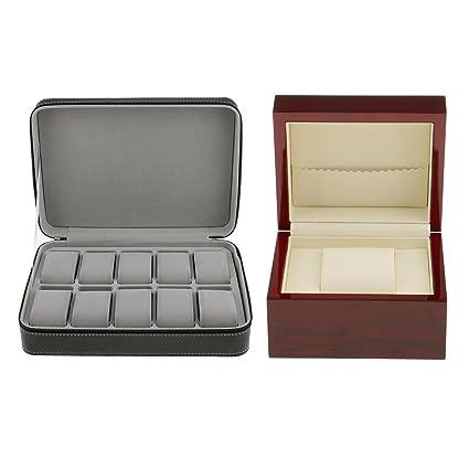 Baoblaze Caja Organizador para Relojes - 2 Pedazos