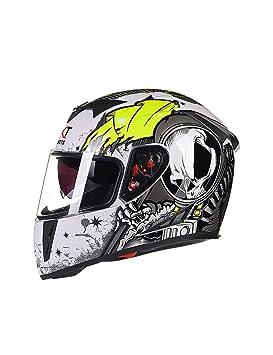 ZYear Casco de Motocicleta con Bluetooth Gafas de Sol incorporadas Interruptor HD Lente Doble antivaho Casco