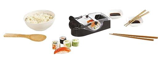 Compra Sushi de Maker para fabricación de Maki y Sushi (Sushi de Kit de Juego, arroz de Roller, 2 Cuencos de salsas, cuchara de madera, madera de varillas) ...