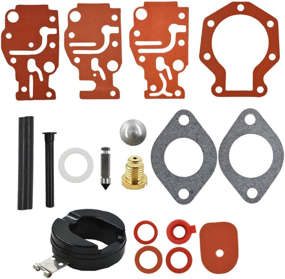 Carb Carburetor Repair Rebuild Kit for Johnson Evinrude 439073 431897 18-7219 6 8 9.9 15 20 HP