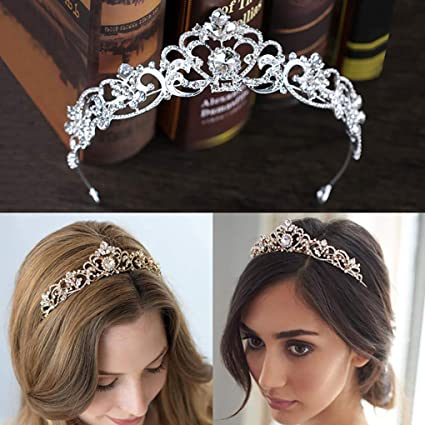 4c2a3e0036 Amazon.com: CanB Bride Wedding Queen Flower Crystal Crowns and ...