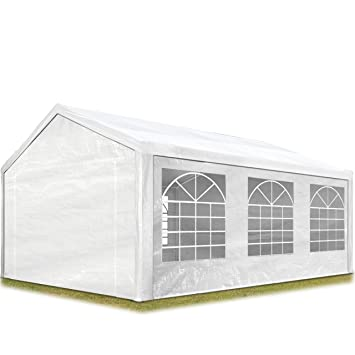 Amazon De Toolport Partyzelt Pavillon 3x6 M In Weiß 180 G M Pe