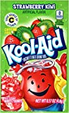 Kool-Aid Unsweetened Strawberry Kiwi Powdered Drink Mix, 0.17 oz Packet