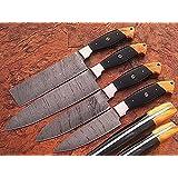 AN-1011 Kitchen knife 4-Pcs set damascus steel blade.