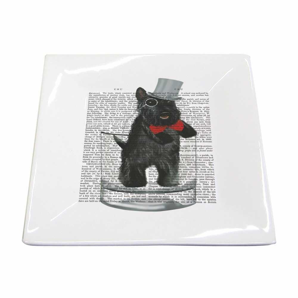 Paperproducts Design 28214 Small Square Plate Featuring Lord Andrew Design, Black/Red