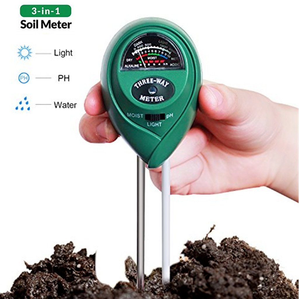 Soil Tester Moisture Meter, 3 in 1 Soil pH Meter Soil Test Kit Gardening Tools for Light, Humidity, pH Acidity Detector Plant, Lawn, Farm, Indoor/Outdoors Use, Easy Read Indicator (No Battery needed) CGBOOM