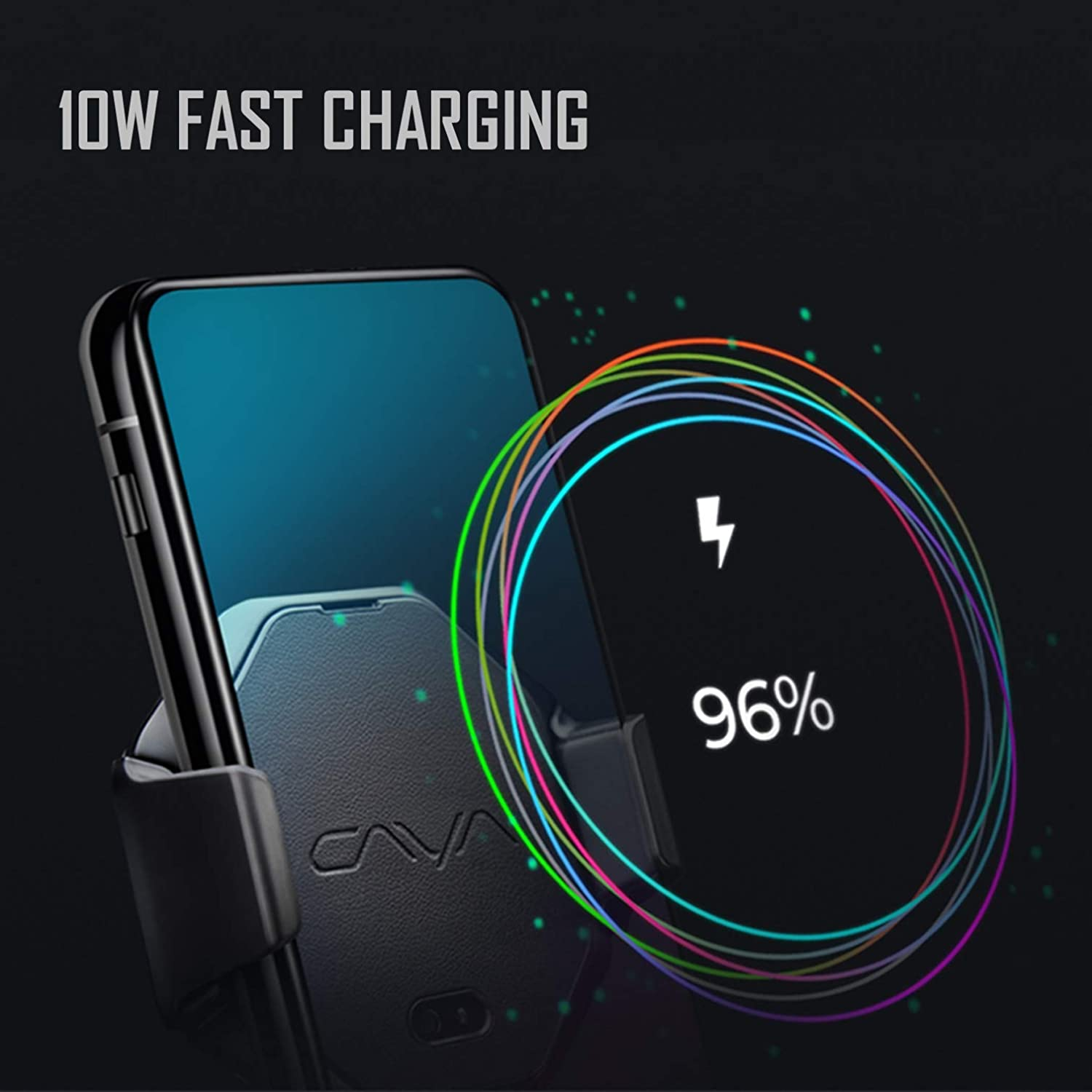 Wireless Fast Charger Car Cell Phone Mounts Car Accessories for iPhone 11//11 Pro//11 Pro Max//Xs Max//Xs//Xr//X Samsung Galaxy S20//20+ S10//10+ Note 10 Automatic Clamping Smart Stand Vehicle Vent Holder