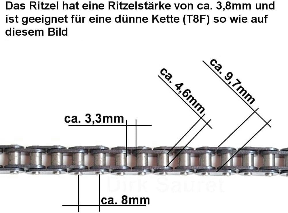 12 Er Ritzel Für Dicke T8f Kette Für 1000 Bis 1600 Watt Mach1 Elektro E Scooter Sport Freizeit