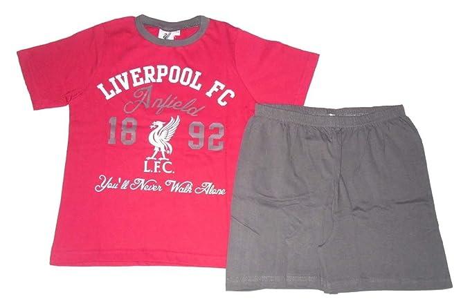 Liverpool F.C. - Pijama Dos Piezas - para niño Rojo Rojo
