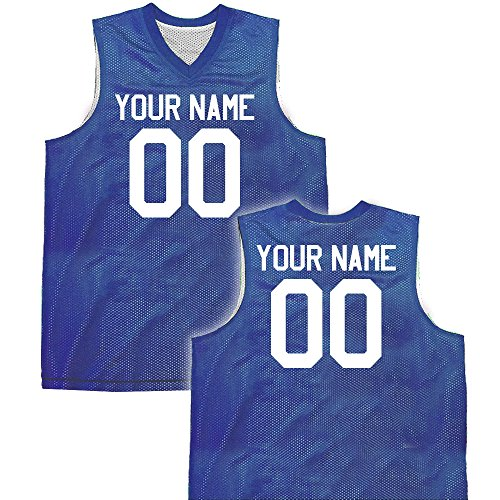 Hardkor Sports Fadeaway Reversible Custom Basketball Jersey womens x-large in Royal Blue