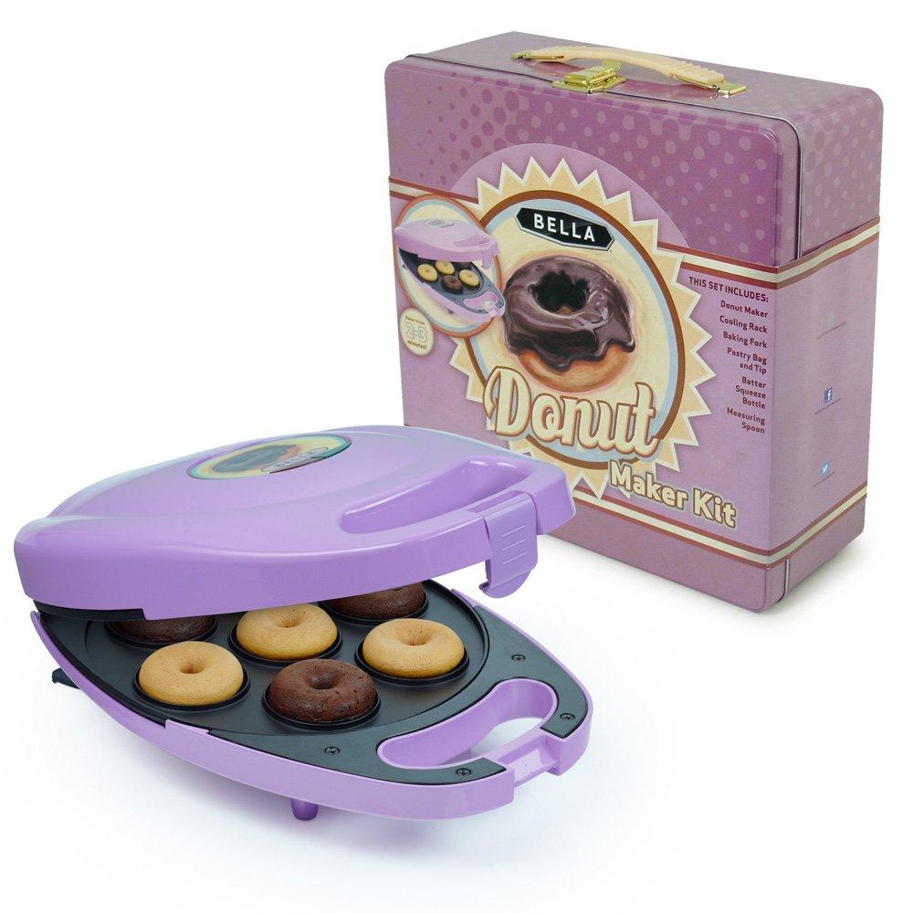 BELLA 13825 Mini Donut Maker, Purple