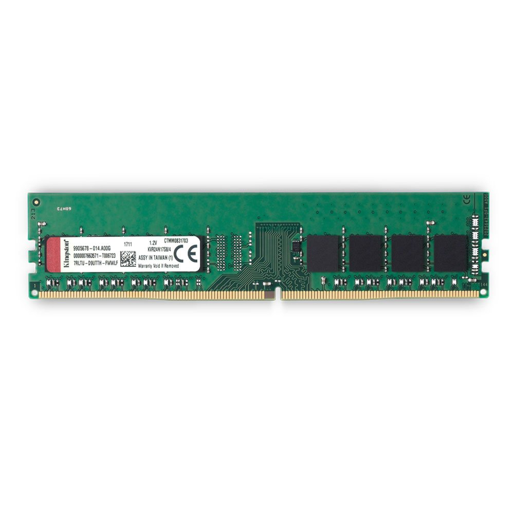 Kingston KVR24N17S8/8 - Memoria RAM Interna de 8 GB, Color Verde