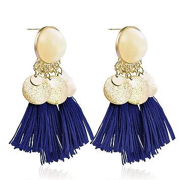 5fb8e495cea Charm Ethnic Tassel Bohemian Dangle Earrings For Women Girl Vintage Fringe  Stones Long Drop Earring Jewelry