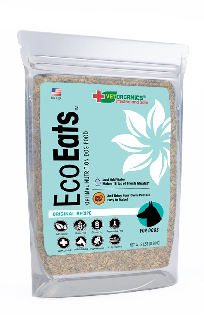 EcoEats Original Recipe Dehydrated Grain Free Dog Food. All-Natural, Healthy, Easy-to-Make. Bring Your Own Protein. Grain-Free Nutritious Dog Food with No Fillers or Preservatives. (2 lb Bag Makes 16