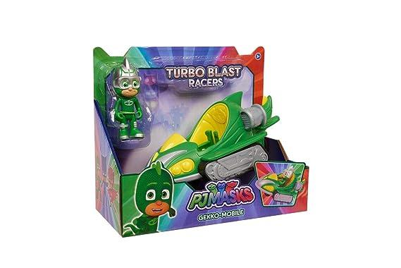 PEQUETREN PJ Masks Vehículos Turbo Blast Bandai 24975: Amazon.es: Juguetes y juegos