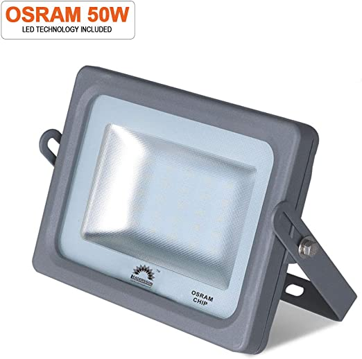 Foco proyector LED 50w 5500lm ultrafino exterior luz neutra 4000k ...