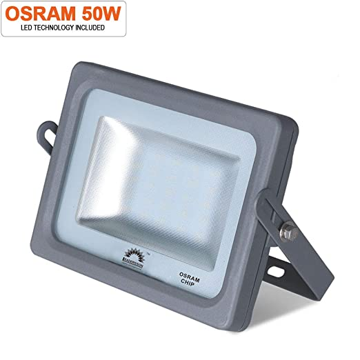 Foco proyector LED 50w 5500lm ultrafino exterior luz fría 6500k ...