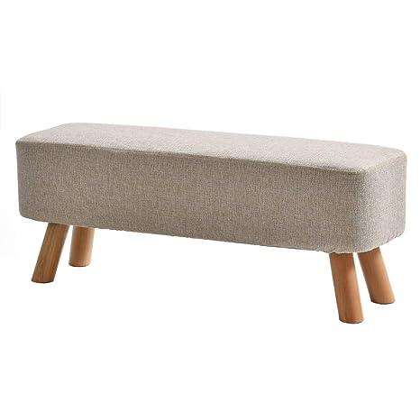 Amazon.com: Taburete tapizado para reposapiés otomano de ...