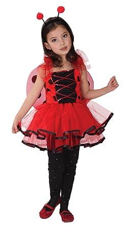 GIFT TOWER Déguisement Petite Fée Coccinelle Princesse Halloween Carnaval  Costume Cosplay Enfant Fille (3- fd26004a925e