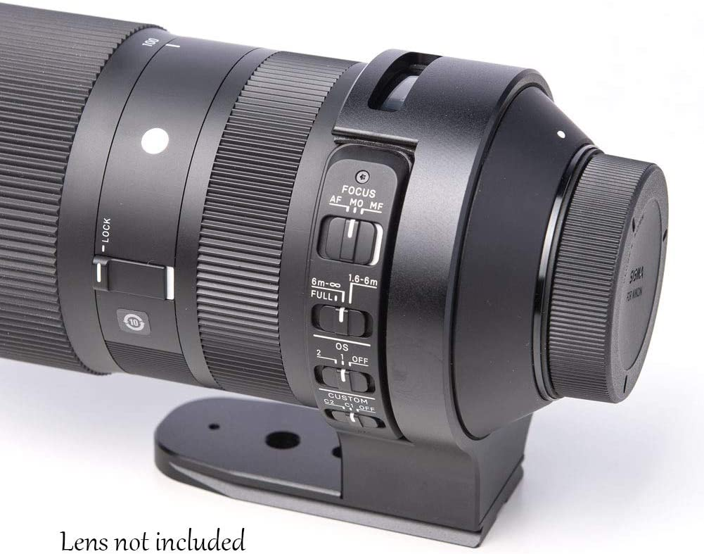 Elefront Tripod Mount Ring for Sigma 100-400mm f//5-6.3 DG OS HSM with Built-in Arca Type Quick Release Plate