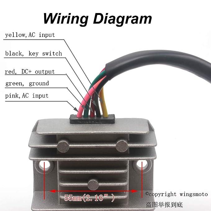 Amazon.com: 5 Wires 12V Voltage Regulator Rectifier ... on