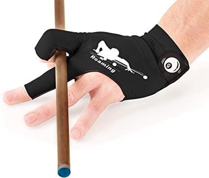Man Woman Billiard Gloves Elastic 3 Fingers Show Gloves Pool Carom Snooker Cue Sport Game Gloves Fits on Left Hand 2Pcs