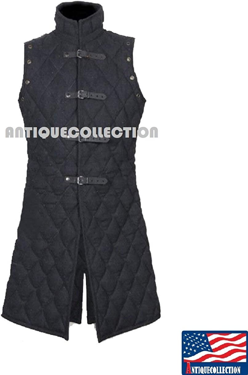 Medieval Gambeson thick padded coat Aketon vest Jacket Armor Halloween Gift