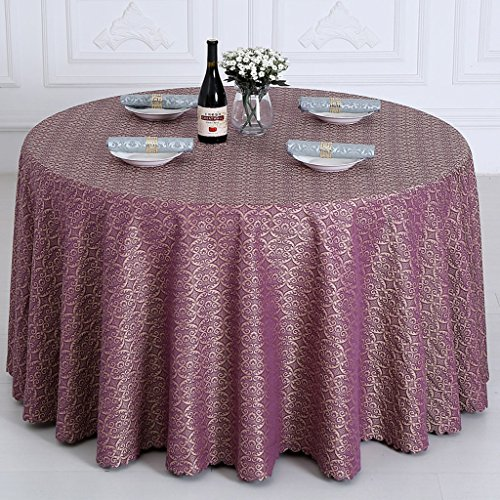 Hyun times Tablecloths Purple Round Table Conference Wallpapers Oversize Round Table Hotel Tableware ( Size : 220 cm )