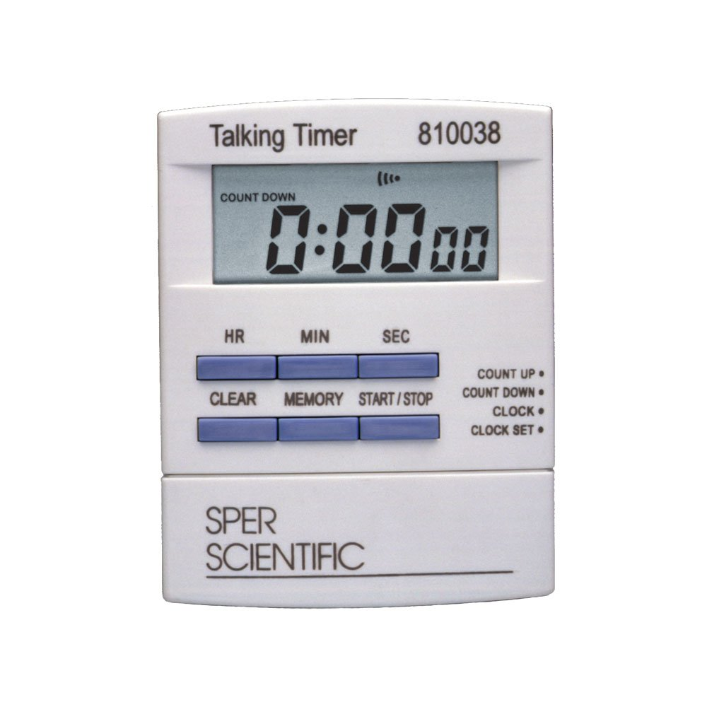 Sper Scientific 810038 Talking Lab Countdown Timer
