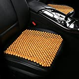 Dr.OX Wood Car Seat Cushion Bead Massage Cool Fit for Truck Car Office Home Chair Seat Cover Use (S-09)