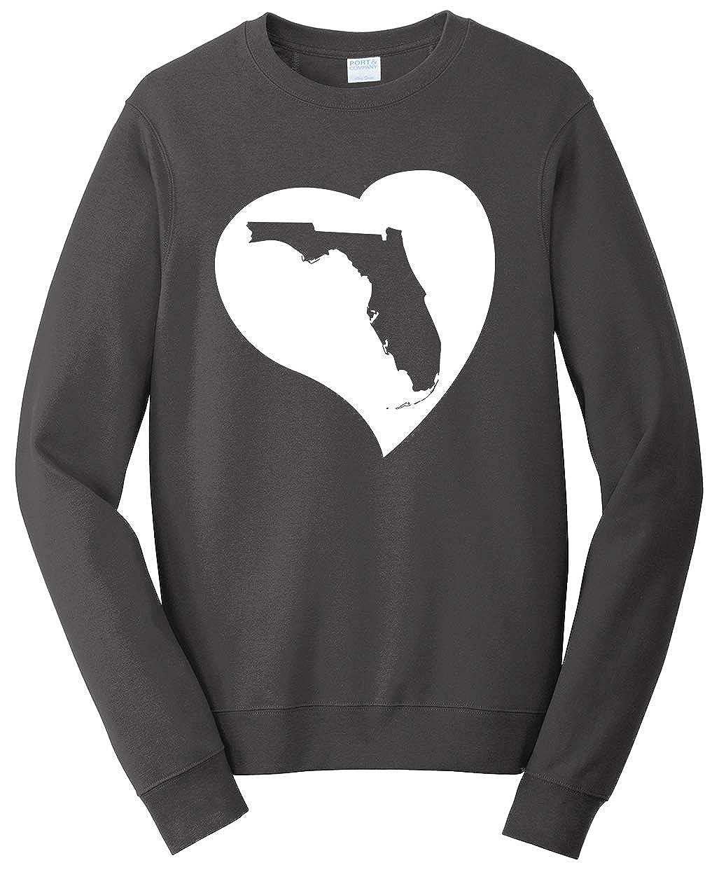 Tenacitee Unisex Florida Heart Sweatshirt