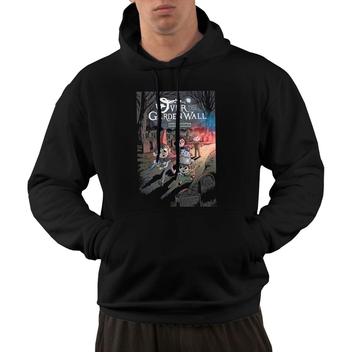 Eowlte Over The Garden Wall Mens Long Sleeve Classic Hoodie Pocket Sweatshirt Black L