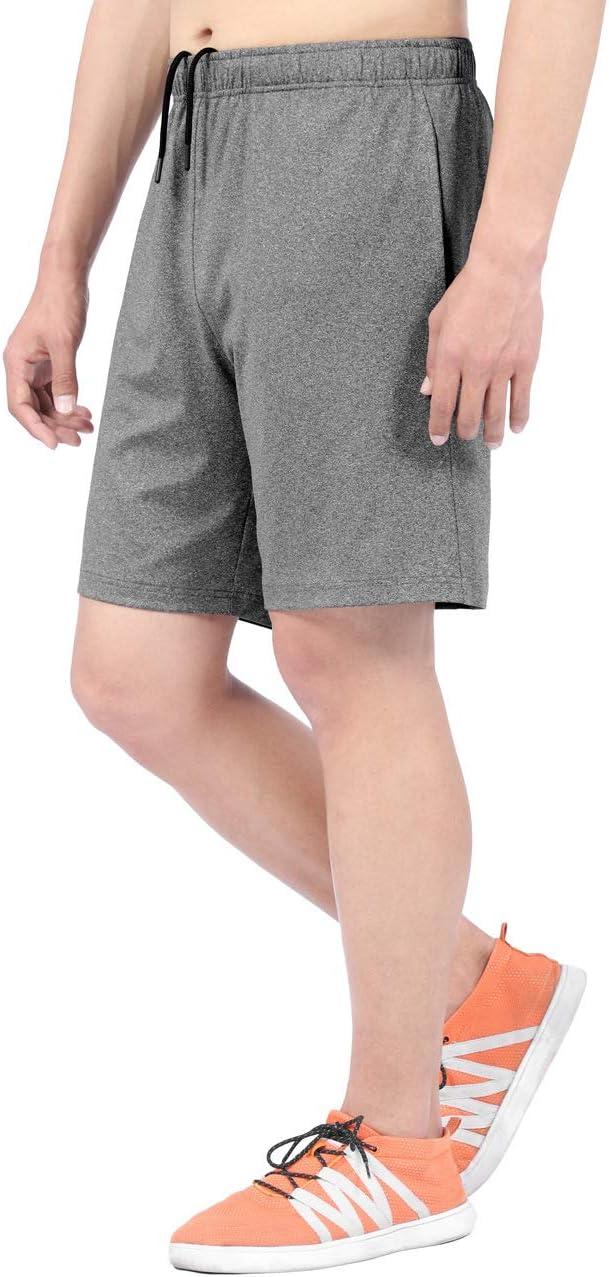 DISHANG Short de Sport pour Homme avec Taille /élastique et Poches lat/érales
