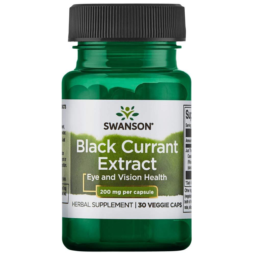 Swanson Black Currant Extract (Cassis) 200 Milligrams 30 Veg Capsules