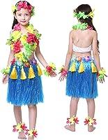 Kids Hawaiian Hula Dance Costume Ballet Performance Cosplay Dress Skirt Garland For Girl Child 40CM Full  sc 1 st  Amazon.com & Amazon.com: Hawaiian Hula Dance Costume Ballet Performance Cosplay ...
