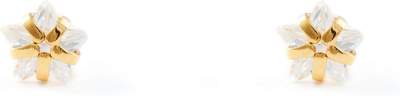 Monde Petit T1830P - Pendientes de bebe/niña oro 18 kts. garra estrella