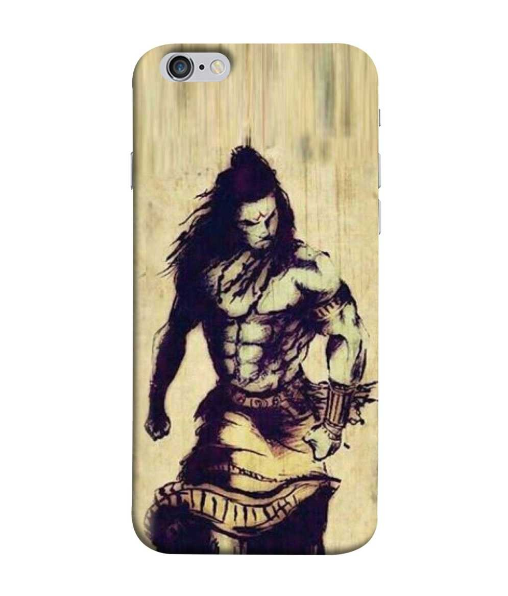 Samken Angry Shiva Sketch Designer Printed Back Cover Amazon In
