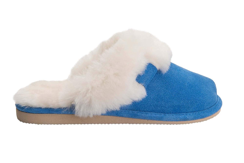 Rusnak Vogar Femmes Luxe Peau de Vogar Mouton Pantoufles Chaussons avec W74-C avec Double Chaud Laine Manchette W74-C Bleu 7f0d4e8 - piero.space