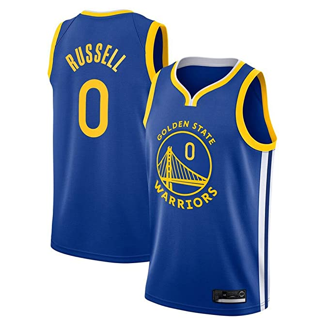 Hombre Mujer NBA Warriors 0# Russell T-Shirt de Baloncesto ...