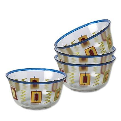 Amazon.com | Pfaltzgraff Sedona Glass Dessert Bowls, Set of 4 ...