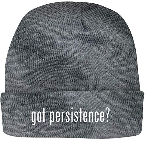 SHIRT ME UP got Persistence? - A Nice Beanie Cap, Grey, OSFA (Best Speargun On The Market)