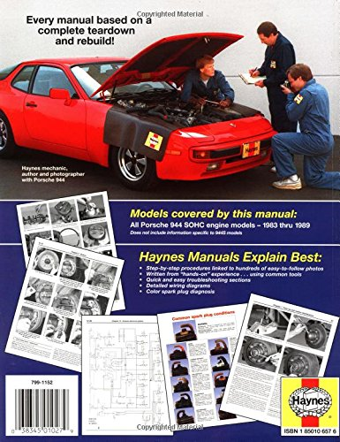 Porsche 944 83 - 89 Haynes Automotive Repair Manuals: Amazon.es: Larry Warren, etc.: Libros en idiomas extranjeros